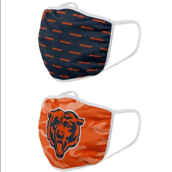 NEW NFL Official Chicago Bears Face Cover Masks